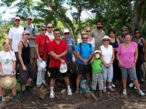 Les salariés de l'ASDR, un groupe soudé et dynamique au service de la forêt le temps d'une journée !