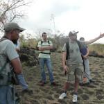 Julien Triolo, Ecologue à l'ONF, présente les travaux réalisés par ses équipes de terrain